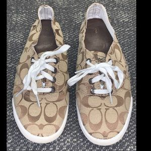 Coach Brown Slip On Shoes with Laces
